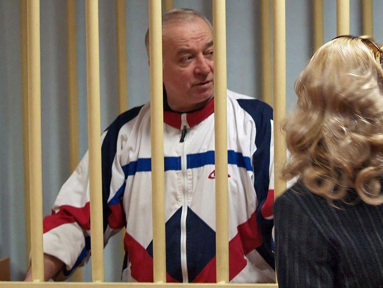 Sergei Skripal op een archieffoto uit 2006 Beeld EPA