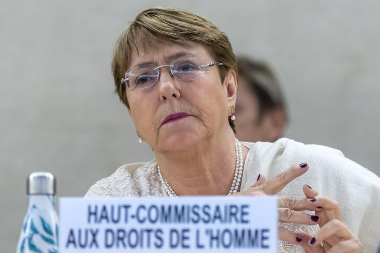 Michelle Bachelet, de Hoge Commissaris voor de Mensenrechten van de Verenigde Naties.