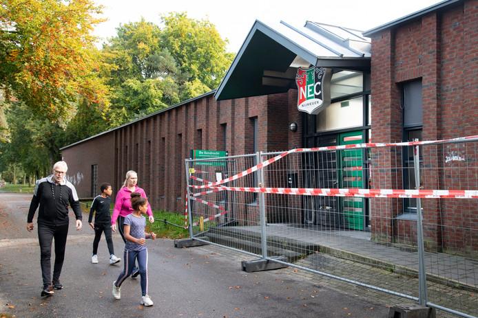 Brand bij de Eendracht, nabij het stadion van NEC.
