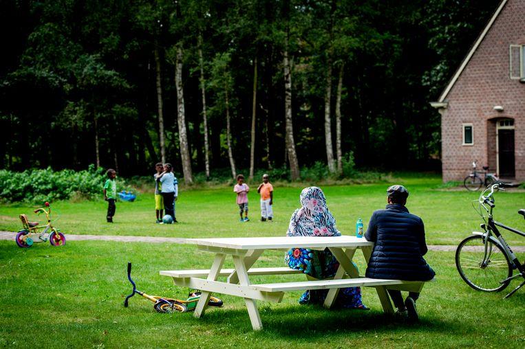 Het asielzoekerscentrum in Gilze. Nieuwe asielzoekers worden tijdelijk niet meer in Nederland opgevangen. Beeld ANP
