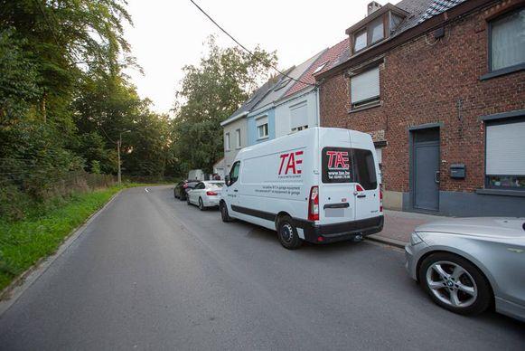 De daders braken in de Batenborg binnen in deze bestelwagen.