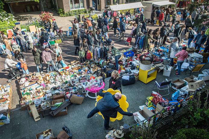 De vrijmarkt in Princenhage.