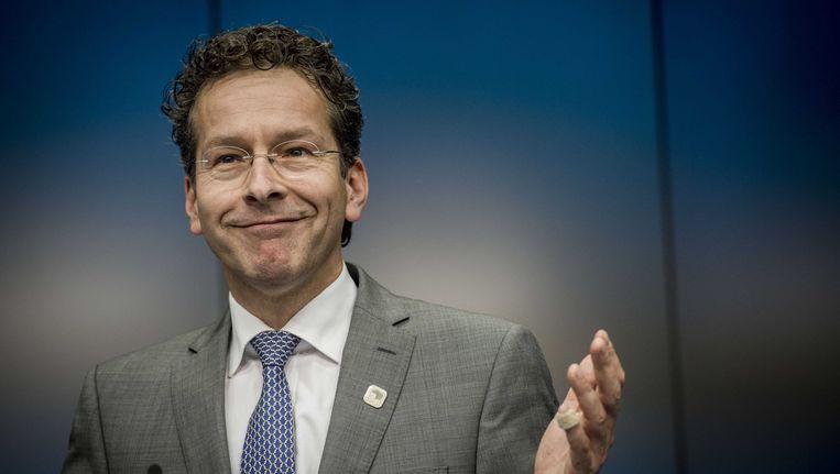 Eurogroepvoorzitter Jeroen Dijsselbloem in Brussel. Beeld anp