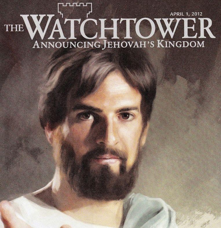 Fragment van een omslag van The Watchtower, het lijfblad van de Jehova's Getuigen. Beeld The Watchtower
