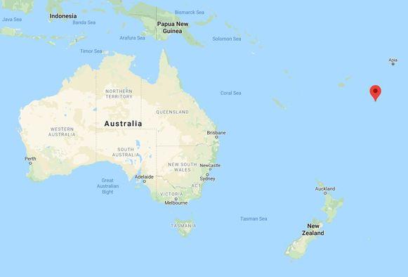 De Tonga-archipel ligt ten oosten van Australië en ten noorden van Nieuw-Zeeland in de Stille Oceaan.