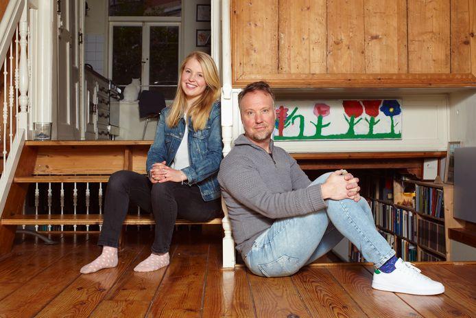 Peter Henk Steenhuis en zijn dochter Hille.
