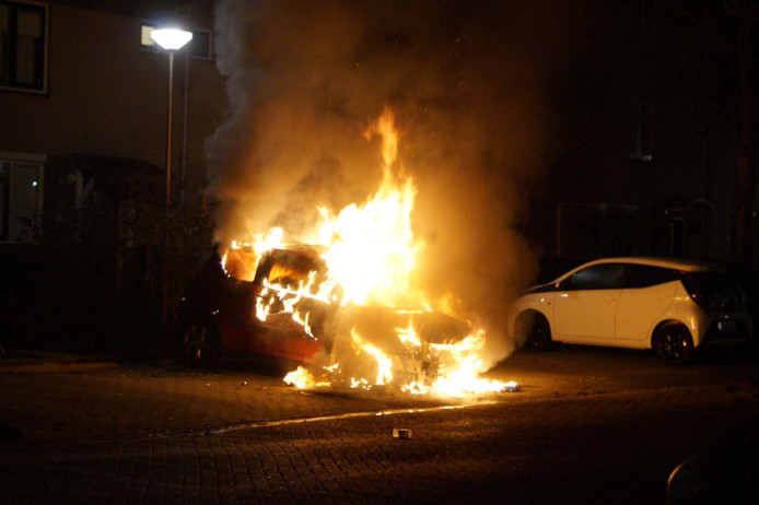 Autobrand Waddinxveen eind december