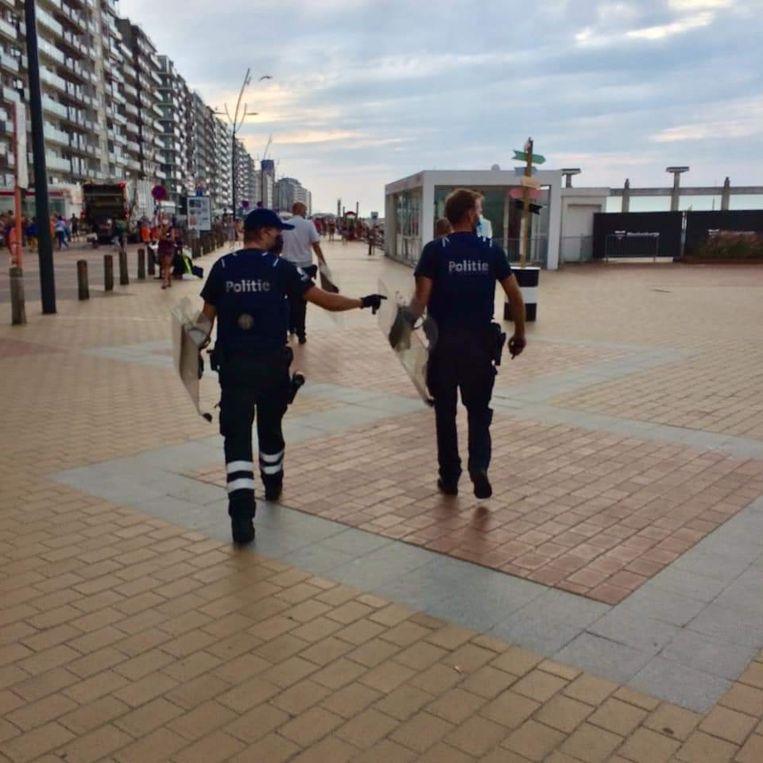 De politie van Blankenberge zou versterking hebben ingeroepen van de federale politie en de de omliggende korpsen.