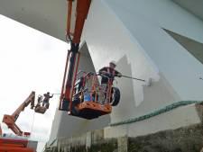 'Likje' verf voor de Zeelandbrug: 200 kilo per pijler