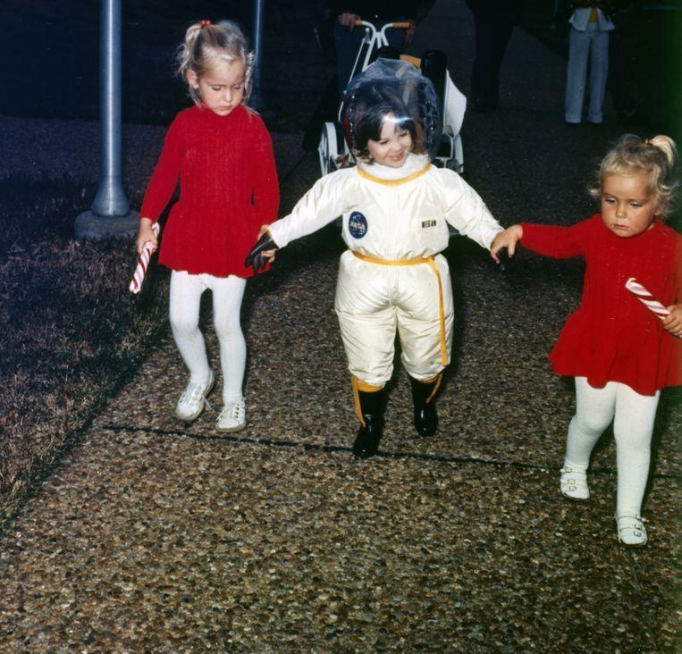 In 1977 ontwikkelde de NASA een speciaal pak voor David Vetter, dat hem in staat stelde naar buiten te gaan. Hij heeft het slechts zeven keer gedragen.  Beeld Getty