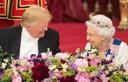 De Britse Queen en Donald Trump hebben het gezellig tijdens een staatsbezoek van de Amerikaanse president aan Groot-Brittannië begin juni.