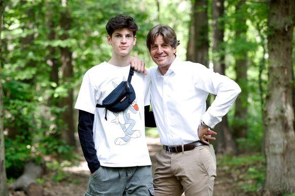 Gunther Neefs en zoon Len