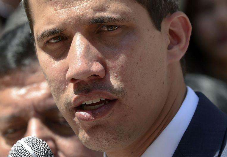 Zelfverklaard interim-president Juan Guaidó.  Beeld AFP
