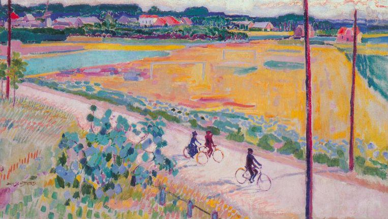 Larens landschap met fietsers (1911) door Jan Sluijters, door de Blokkers gekocht in 2002. Beeld -