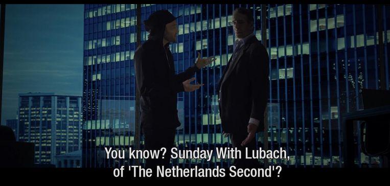 Beeld uit de fictieve trailer van Arjen Lubach. Beeld null
