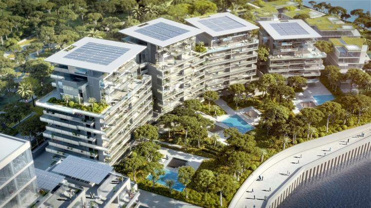 De luxueuze flats zullen 400 vierkante meter groot zijn, de villa's 1.000 vierkante meter. Ze  bieden plaats aan duizend extra inwoners.