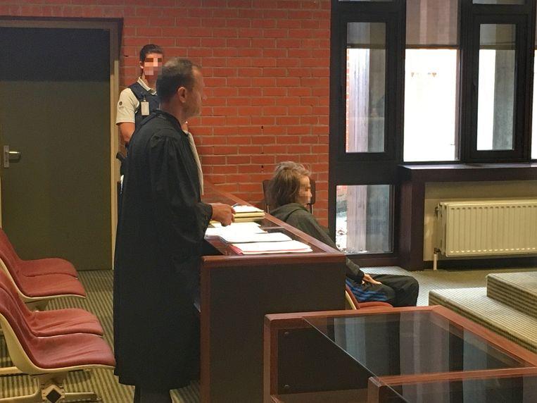 Nadine W. deze week in de Brugse rechtbank.