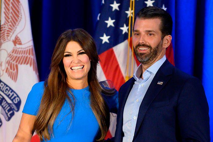 Donald Trump Jr. et sa petite amie Kimberly Guilfoyle. Kimberly Guilfoyle a été testée positive au coronavirus.