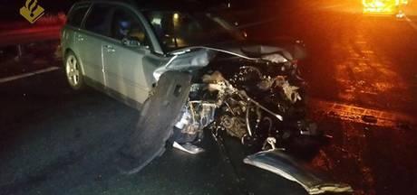 Ravage op A67 bij Geldrop na ongeluk