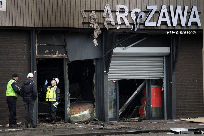 De explosie bij de Poolse winkel aan het paletplein zorgde voor een enorme ravage.