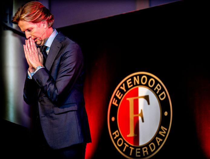 Jan de Jong tijdens zijn speech op de nieuwjaarsreceptie begin dit jaar.