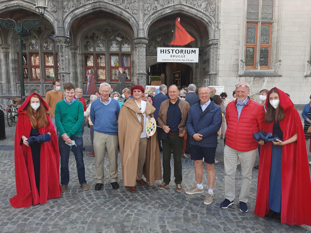 De families Van Eyck bezochten vandaag gratis het Historium.