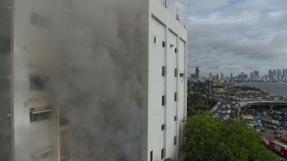 Grote brand in kantoorgebouw Mumbai, tientallen ontsnappen op het nippertje