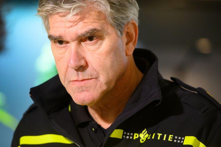 Hoofdcommissaris Frank Paauw, chef van de Amsterdamse politie. Beeld ANP