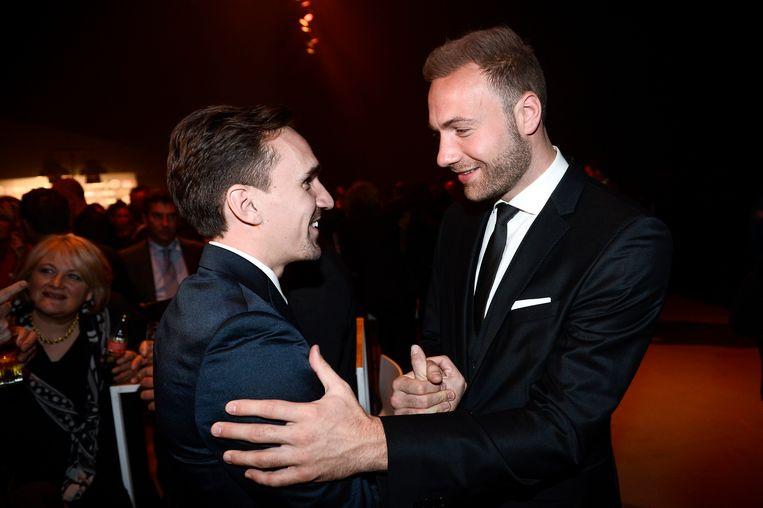 Kums en Depoitre op het gala van de Gouden Schoen.