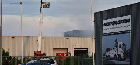 Brand in persmachine op Borchwerf in Roosendaal