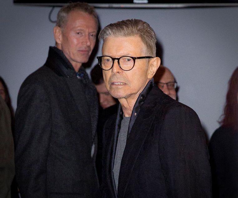 David Bowie op de avond van de première van de musical 'Lazarus'.