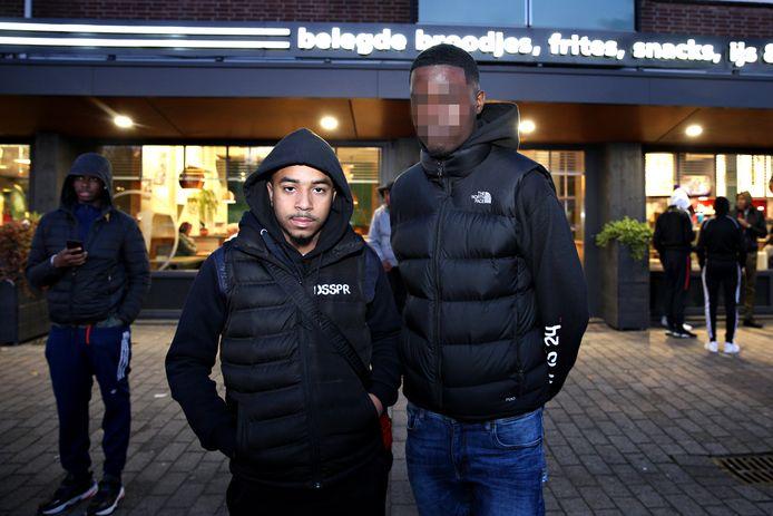 Rotterdam 30-10-2019 - Blacka (R) en Qlas op het Prinsenplein. foto: fotografie: sanne donders