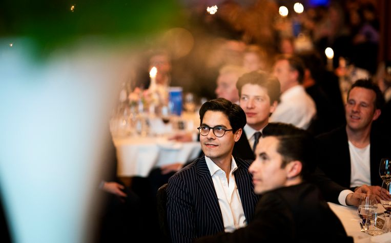 Rob Jetten tijdens de uitreiking van de Diversity Awards in Amsterdam. Beeld Freek van den Bergh