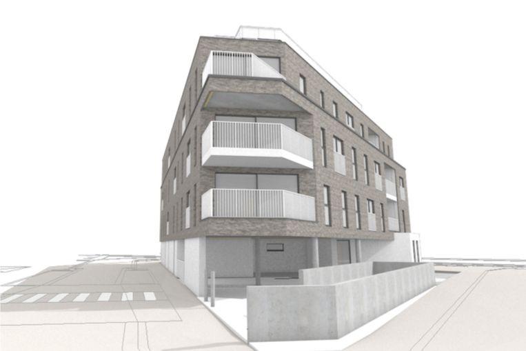Een zicht op de nieuwbouw vanuit de Sint-Elisabethstraat