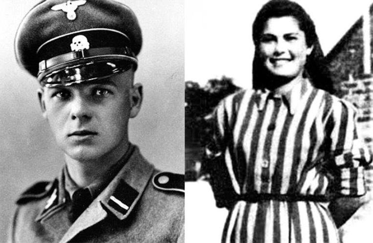 SS-Rottenführer Franz Wunsch, een van de kampbeulen van Auschwitz. De Joodse Helena Citrónová was 21 toen ze naar het concentratiekamp werd gedeporteerd.