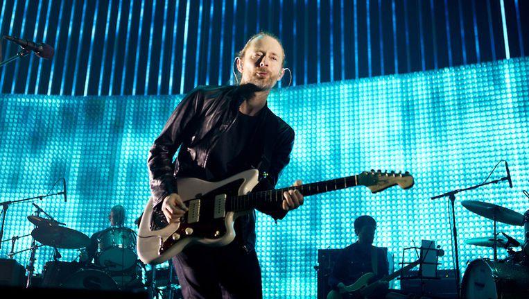 Thom Yorke op het podium met Radiohead Beeld ANP