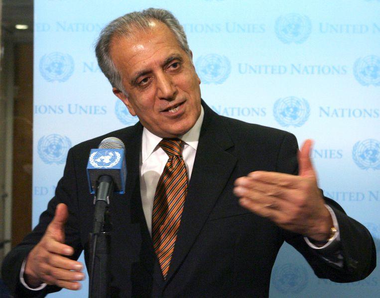 Zalmai Khalilzad, de Amerikaanse gezant voor vrede in Afghanistan