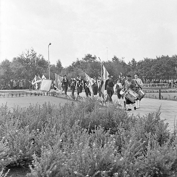 Inzegening Hertog Jancollege in Valkenswaard in 1958