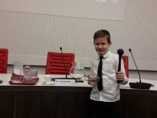 Thijs Kersten (9) wil kinderburgemeester worden van Berg en Dal