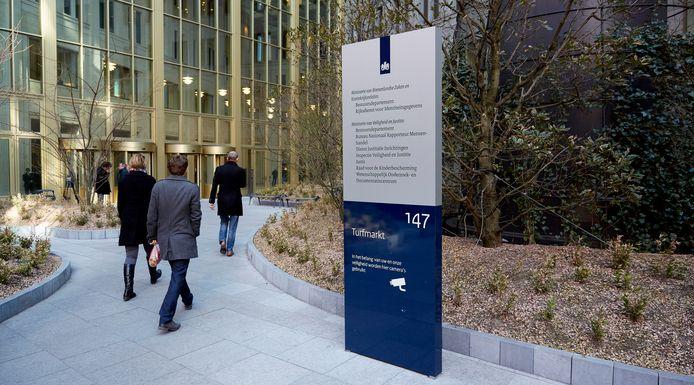 Het ministerie van Veiligheid en Justitie in Den Haag.