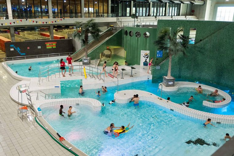 Een beeld van het recreatiebad, waar het meisje uit het water gehaald werd.