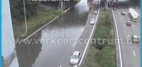 Snelweg Breda - Antwerpen niet meer onder water door hevige regenval, zware buien op weg naar Brabant