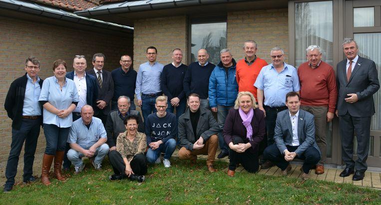 Het vernieuwde bestuur van het Bruegelcomité van Wingene.