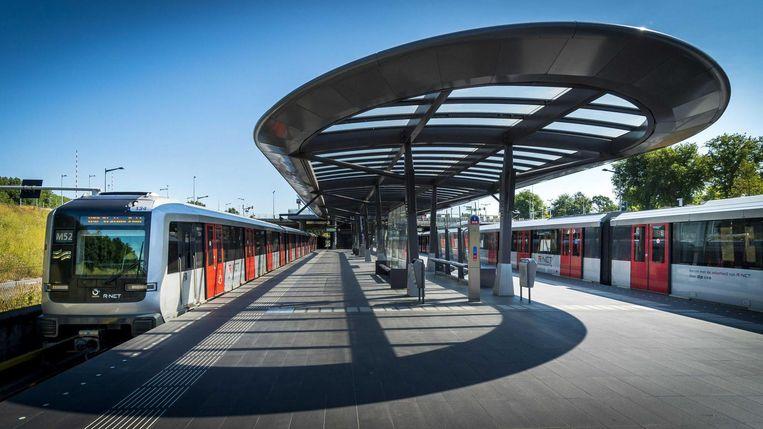Metrostation Noorderpark aan de Noord/Zuidlijn. Beeld ANP