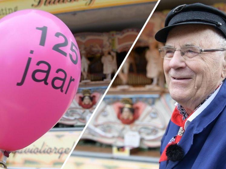 Orgelman Bertus viert 125-jarig bestaan draaiorgel De Tukker