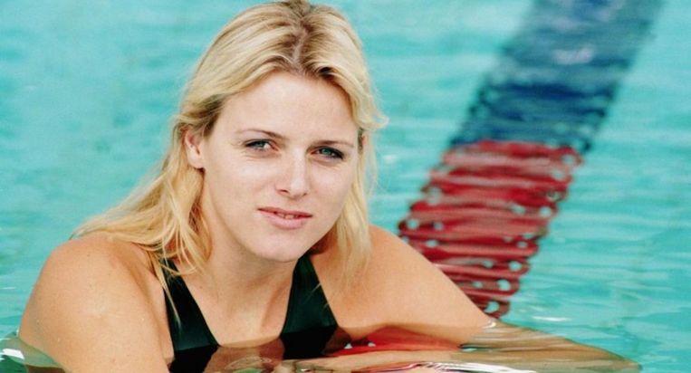Charlene Wittstock als Olympisch zwemster voor Zuid-Afrika voor ze Prins Albert kende.
