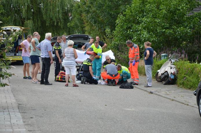 Het ongeluk trok veel bekijks.
