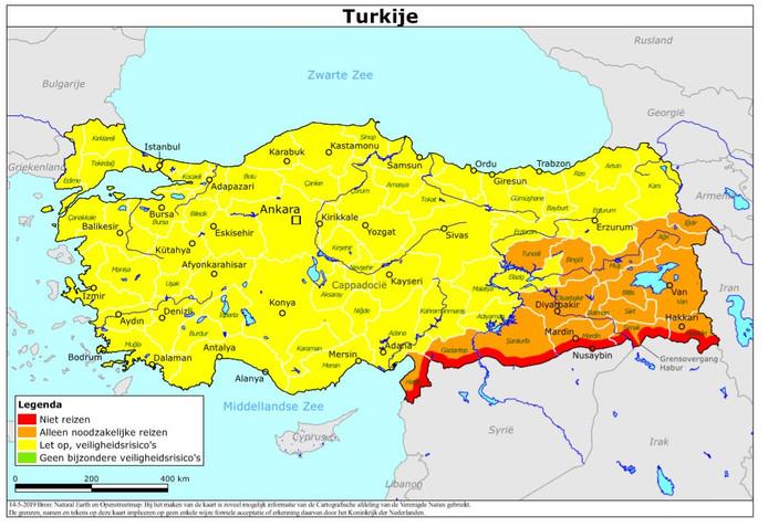 Reisadvies Turkije van ministerie Buitenlandse Zaken