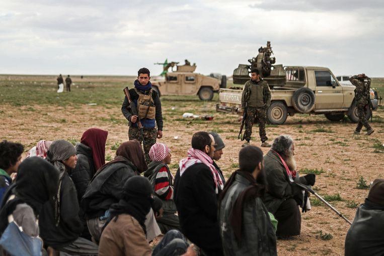 SDF-troepen leveren al een tijdje strijd om Baghouz, de laatste weken werden duizenden burgers geëvacueerd.