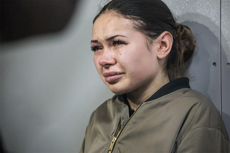 Zaitseva bleef ongecontroleerd huilen in de rechtbank.